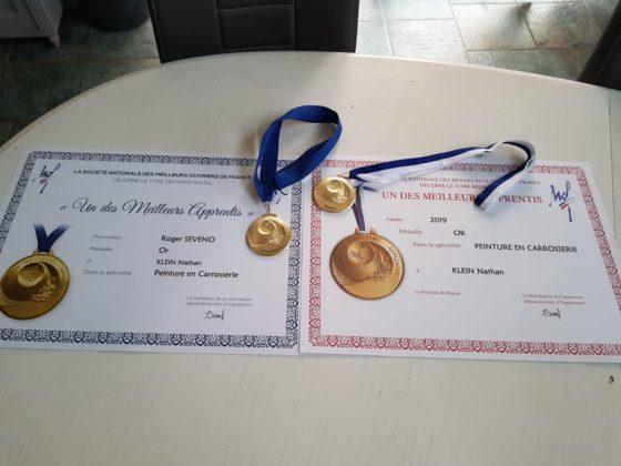 Félicitations pour notre apprenti Nathan Klein Médaille d'or Meilleur Ouvrier de France Régional